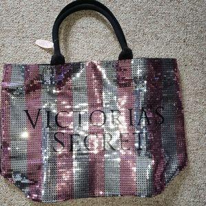 Victoria Secret Pink sequined big tote bag